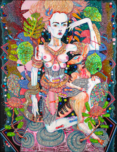 Del Kathryn Barton, 'of pink planets'