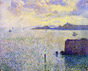 Théo van Rysselberghe, 'Entrance to the Port of Roscoff' (1889)