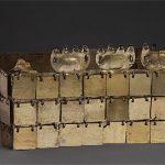 VICÚS culture North coast 100 BC – 400 AD Crown 100 BC - 400 AD gold and copper  12.0 (h) x 21.5 (w) x 15.0 (d) cm Museo Larco, Lima Photograph: Daniel Giannoni