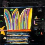 Ken Done, Sydney striped Opera House, 2013, acrylic on canvas