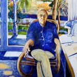 Brett Whiteley, Portrait of Patrick White in Centennial Park, 1979-80