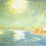 Lloyd Rees,September Sun, Sydney Cove, 1980, oil on canvas, 136 x 182 cm. Janet Holmes à Court Collection.
