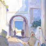 Hilda Rix Nicholas, 'Through the arch to the sea' (1914)