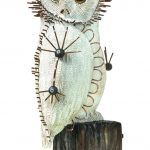 Joshua Yeldham, 'White Owl', carved resin with cane and wire, 55 x 30 x 30