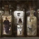 Navin Rawanchaikul, There is No Voice (3) ​(detail), 1994–2012, wood, glass bottles, photographs, 200 x 65 x 150 cm. Image courtesy: The Gene and Brian Sherman Collection, and Sherman Contemporary Art Foundation, Sydney. Photo: Yavuz Gallery.
