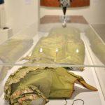 Unlabelled bodice and skirt 1845-1848 France silk taffeta, silk thread, cotton gauze lining (skirt), plain cotton lining (bodice), woven silk thread laces, possibly dyed with arsenic
